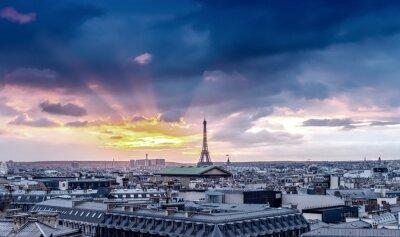 Fototapeta Paříž panorama. Architektonický detail city