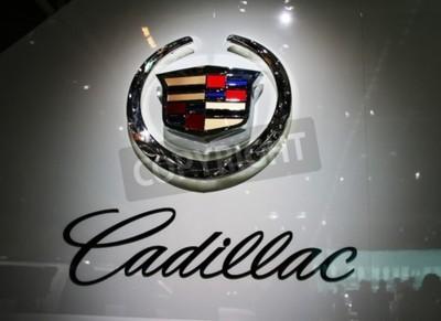 Fototapeta PAŘÍŽ - říjen 14: General Motors Co. (GM), Cadillac logotyp je voltu společnosti na pařížském autosalonu 2010 v Porte de Versailles, 14. října 2010 v Paříži, Francie