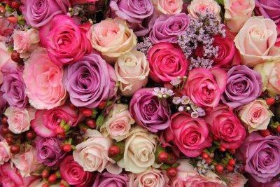 Fototapeta Pastel svatební květiny