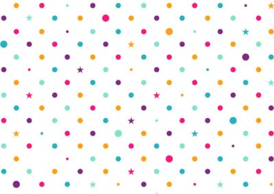 Fototapeta Pastelové barevné tečky bílé pozadí vektorové ilustrace