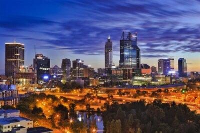 Fototapeta Perth CBD parku svítání