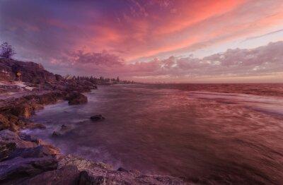 Fototapeta PERTH pláž skály při západu slunce