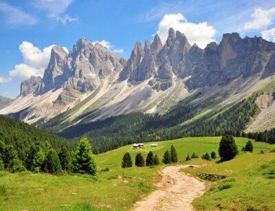 Fototapeta Pěší cesta v Alpách