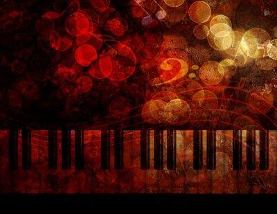 Fototapeta Piano Keyboard Grunge pozadí obrázku