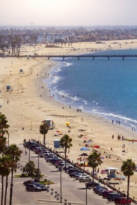 Fototapeta Pier v Long Beach, Los Angeles, Kalifornie