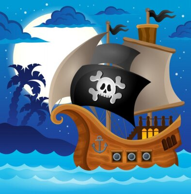 Fototapeta Pirátská loď téma image 2