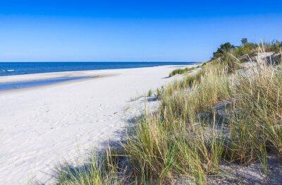 Fototapeta Písečná pláž na poloostrově Hel, Baltské moře, Polsko