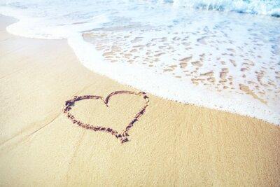 Fototapeta písek srdce