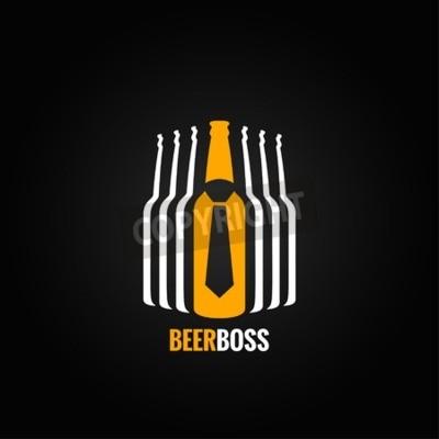 Fototapeta pivní láhev šéf koncept design pozadí