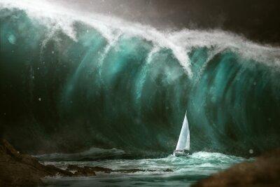 Fototapeta Plachetnice před tsunami