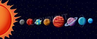 Fototapeta Planety sluneční soustavy ilustrační