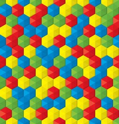Fototapeta plastová mozaika bezešvé pozadí