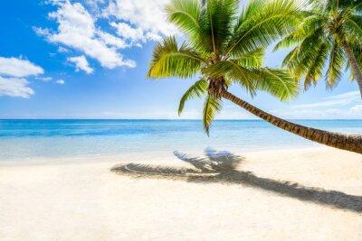 Fototapeta Pláž dovolená na opuštěném ostrově v moři