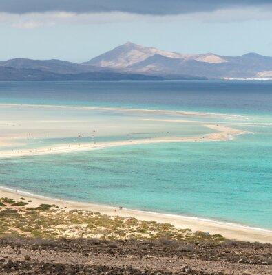 Fototapeta Pláž Playa de Sotavento, Kanárské ostrova Fuerteventura, Španělsko