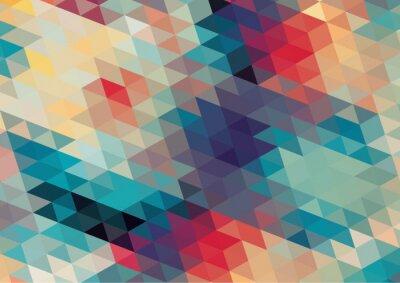 Fototapeta plochý design geometrické retro barevné pozadí