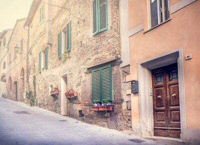 Fototapeta Podmanivé ulici Starého Montepulciano