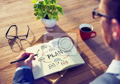 Fototapeta Podnikatel Brainstorming o územním plánování