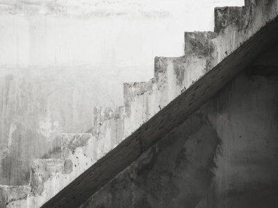 Fototapeta Podrobnosti Schody architekturu stavebniny Černobíle