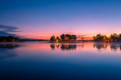 Fototapeta Pohled na chatě u jezera v Ontariu v Kanadě