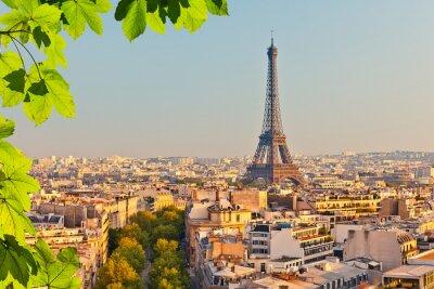 Fototapeta Pohled na Eiffelovu věž při západu slunce