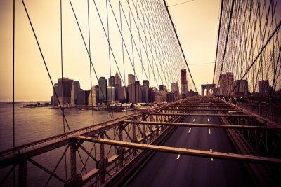 Fototapeta Pohled na finanční čtvrti od mostu Brooklyn