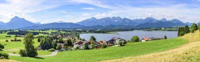 Fototapeta Pohled na Hopfen am See im Allgäu