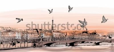 Fototapeta Pohled na Paříž z