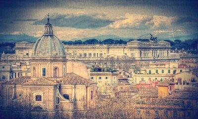 Fototapeta Pohled na Řím. Retro osočil fotografie
