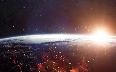 Fototapeta Pohled na Zemi z vesmíru. Prvky tohoto obrázku zařízený NASA