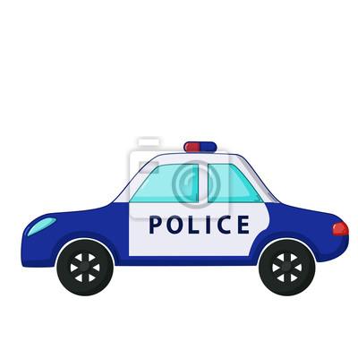 Policejni Auto Ikona Kresleny Styl Fototapeta Fototapety Pocitac
