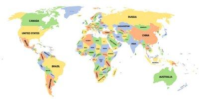 Fototapeta Politická mapa světa
