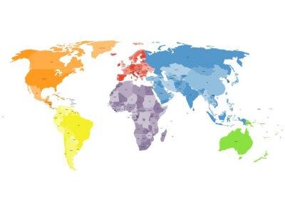 Fototapeta politická mapa světa na bílém pozadí.