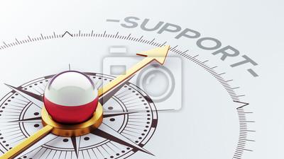 Polsko Podpora Concept