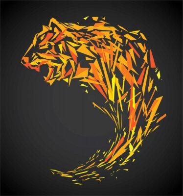 Fototapeta polygon tygr