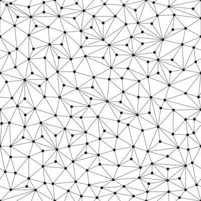 Fototapeta Polygonální pozadí, bezešvé vzorek, čáry a kruhy