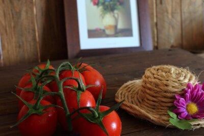 Fototapeta Pomodoro rosso Grappolo varietà Piccadilly