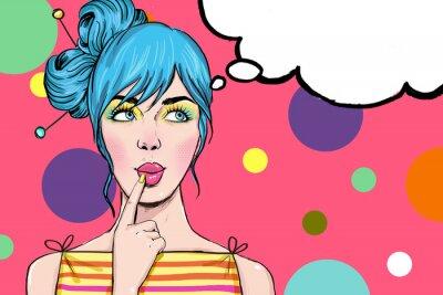 Fototapeta Pop Art dívka. Party Pozvánka