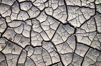Fototapeta Popraskané jíl země do suchého letního období