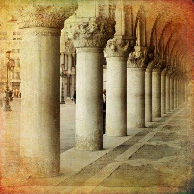 Fototapeta Portico di Palazzo Ducale, Benátky