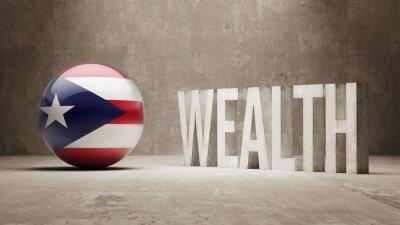 Portoriko. Bohatství Concept.