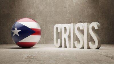 Portoriko. Krize Concept