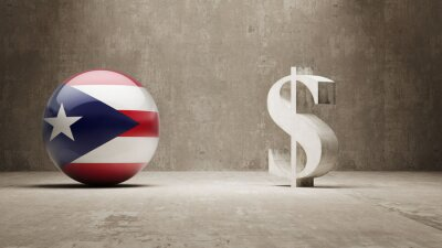 Portoriko. Peníze Sign koncept.