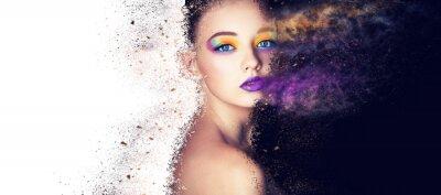 Fototapeta portrét módní model žena tvůrčí make up, studio foto