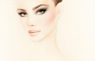 Fototapeta Portrét ženy. Módní ilustrace