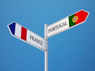 Portugalsko Francie Znamení Vlajky Concept
