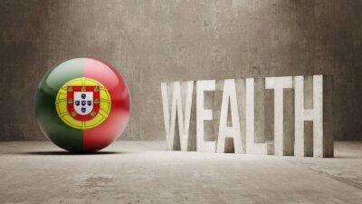 Portugalsku. Bohatství Concept.