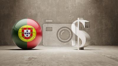 Portugalsku. Peníze Sign koncept.
