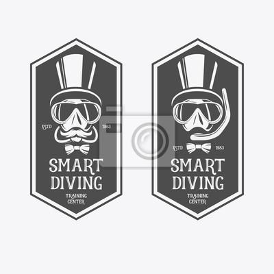 9f440d79eea Potápění vintage etikety. fototapeta • fototapety námořník ...