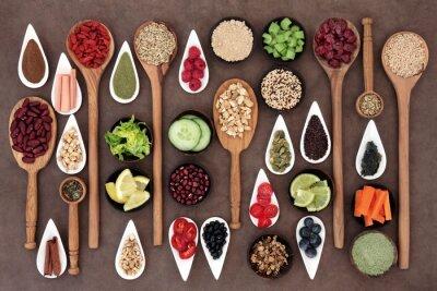 Fototapeta Potraviny pro zdravou výživu Sampler