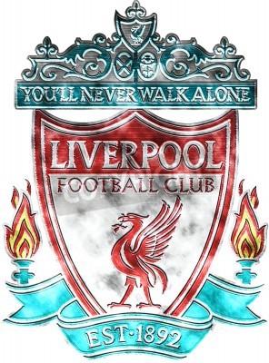 Fototapeta Použité odznak FC Liverpool
